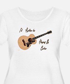 Playing My Guitar Plus Size T-Shirt
