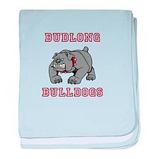 Budlong Bulldogs 1 baby blanket