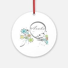 Aruba Floral Beach Graphic Ornament (Round)