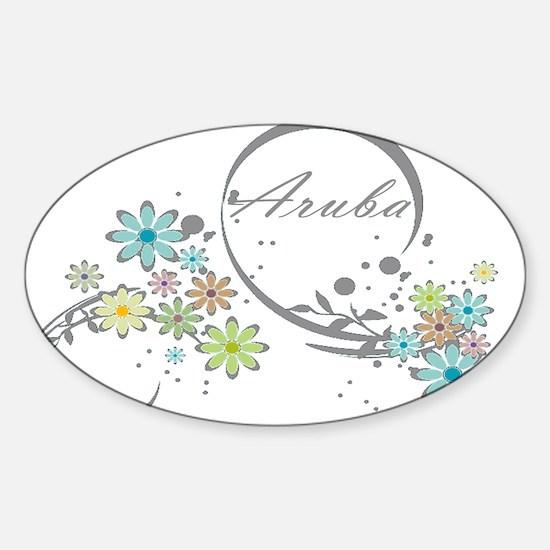 Aruba Floral Beach Graphic Decal