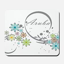 Aruba Floral Beach Graphic Mousepad