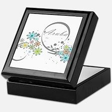 Aruba Floral Beach Graphic Keepsake Box