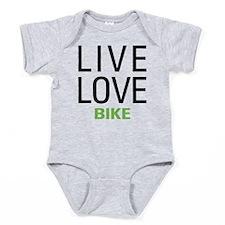 Live Love Bike Baby Bodysuit