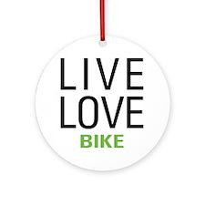 Live Love Bike Ornament (Round)