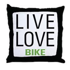 Live Love Bike Throw Pillow