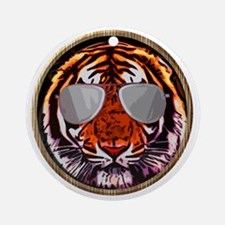 Cool Jungle Cat Round Round Ornament