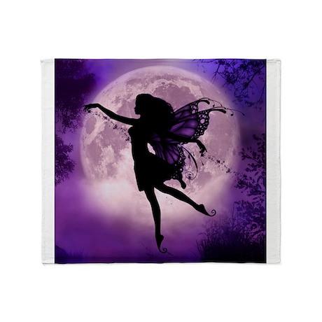 Midnight Stroll Fairy Throw Blanket