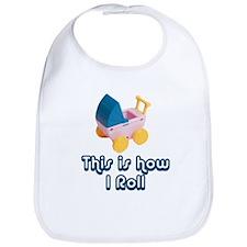 How I Roll, Retro Funny Stroller Baby Bib