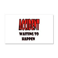 ACCIDENT Car Magnet 20 x 12