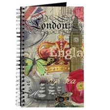 London England Vintage Travel Collage Journal