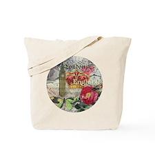 London England Vintage Travel Collage Tote Bag