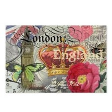 London England Vintage Travel Collage Postcards (P