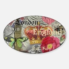 London England Vintage Travel Collage Decal