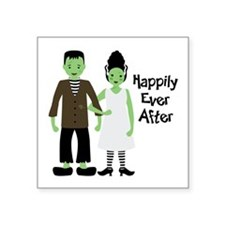 "Happily Ever After Square Sticker 3"" x 3"""