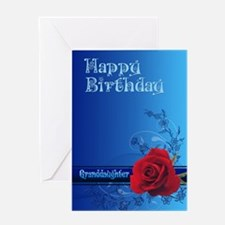For a granddaughter, a birthday card with a rose G
