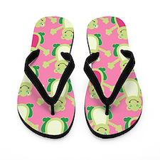Cute Happy Frog Flip Flops Flip Flops - Pink