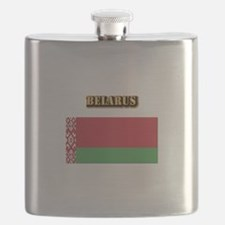 Belarus With Text Flask