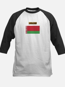 Belarus With Text Kids Baseball Jersey