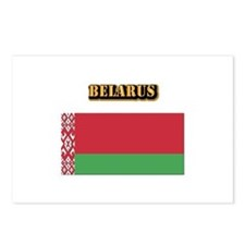 Belarus With Text Postcards (Package of 8)