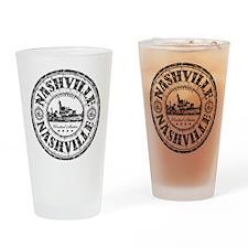Nashville Stamp Drinking Glass