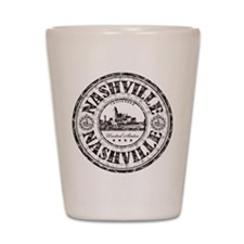 Nashville Stamp Shot Glass