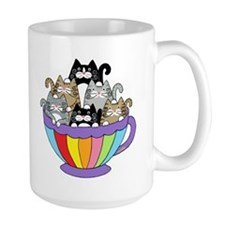 Catpuccino, 6 Cats In A Cup Coffee Mugs