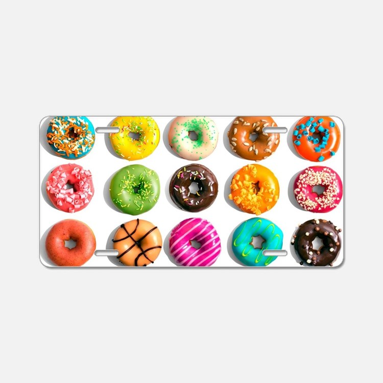 Donuts, Donuts Everywhere Aluminum License Plate