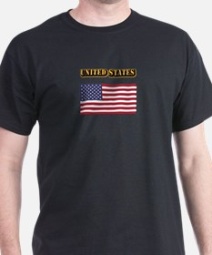 Flag of the United States With Text T-Shirt