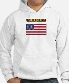 Flag of the United States With T Hoodie