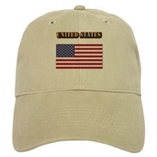 Flag of the United States With Text Baseball Cap