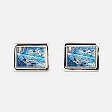 Swim meet in blue Cufflinks