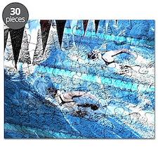 Swim meet in blue Puzzle