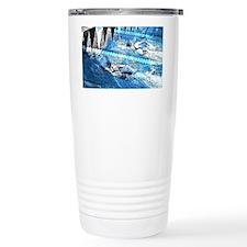 Swim meet in blue Travel Mug