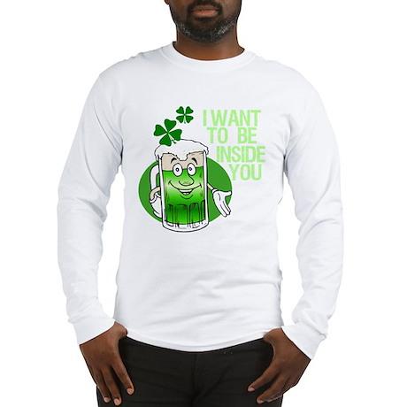 Green Beer Humor Long Sleeve T-Shirt