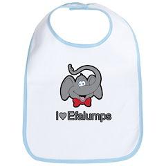 I love Efalumps - Elephants Bib