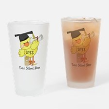 PD Graduation Chick Drinking Glass