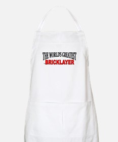 """""""The World's Greatest Bricklayer"""" BBQ Apron"""