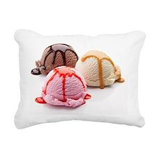 3 Scoops Rectangular Canvas Pillow