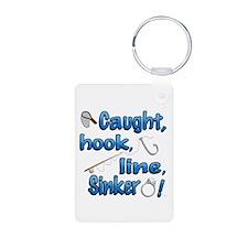 Caught, Hook, Line, Sinker , Married! Keychains