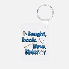 Caught, Hook, Line, Sinker , Married! Keychains