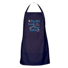 Caught, Hook, Line, Sinker , Married! Apron (dark)