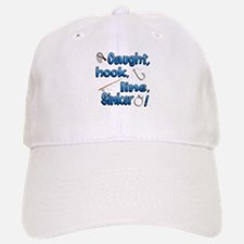 Caught, Hook, Line, Sinker , Married! Baseball Baseball Baseball Cap