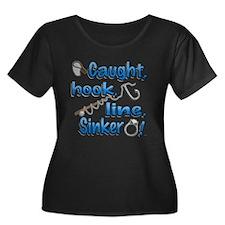Caught, Hook, Line, Sinker , Married! Plus Size T-
