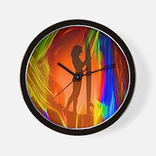 Sexy Sunset Surfer Girl Wall Clock