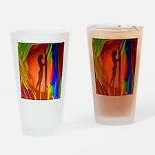 Sexy Sunset Surfer Girl Drinking Glass