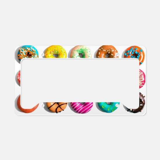 Rainbow Donuts License Plate Holder