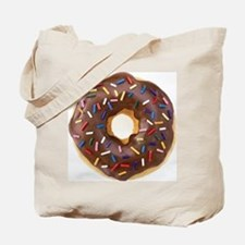 Chocolate Donut and Rainbow Sprinkles Tote Bag