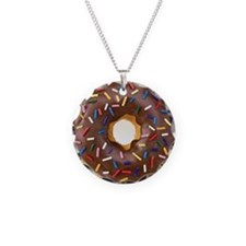 Chocolate Donut and Rainbow  Necklace