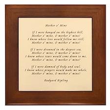 Kipling Mother Framed Tile