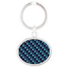 Dots-2-07-3 Oval Keychain